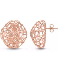 Vitae Ascendere - Bubble Rose Gold Earrings - Lyst