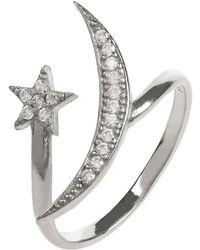 LÁTELITA London - Moon & Star Ring Sterling Silver - Lyst