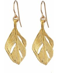 Chupi - I Can Fly Midi Swan Feather Earrings Gold - Lyst