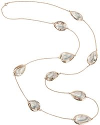 LÁTELITA London - 3d Teardrop Necklace Rosegold Clear Quartz - Lyst