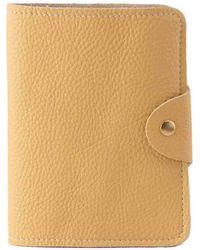 N'damus London - Luxury Italian Leather Yellow Passport Cover - Lyst
