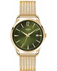 Henry London - Ladies 39mm Chiswick Stainless Steel Bracelet Watch - Lyst