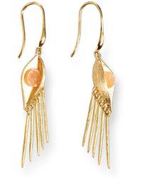 Ona Chan Jewelry Buddha Eye Earring With Druzy Gold