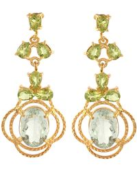 Carousel Jewels - Peridot & Topaz Statement Earrings - Lyst