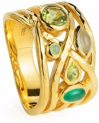 Neola - Liana Gold Ring Peridot Green Onyx & Peridot - Lyst