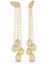 Vitae Ascendere - Tear Drop Gold Earrings - Lyst