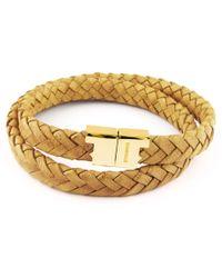 Tissuville - Stark Bracelet Mustard Gold - Lyst