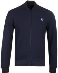 Fred Perry - Pique Bomber Sweat - Lyst