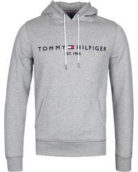 Tommy Hilfiger - Drawstring Logo Hoodie - Lyst