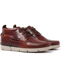 Barbour | Phill Brown Leather Boat Shoes | Lyst