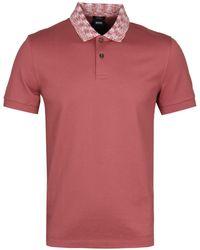 BOSS - Phillipson33 Salmon Polo Shirt - Lyst