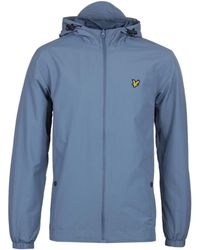 Lyle & Scott - Mist Blue Zip Through Hooded Jacket - Lyst