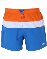 9dcc83a35f BOSS by Hugo Boss - Triple Colour Block Swim Shorts - Lyst