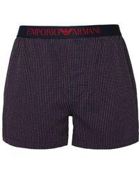 Emporio Armani - Navy Micro-dot Cotton Boxers - Lyst