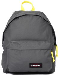 Eastpak - Padded Pak'r Grey & Yellow Backpack - Lyst