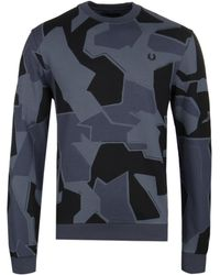 Fred Perry - Arktis Airforce Camo Sweatshirt - Lyst