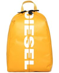 DIESEL - F-bold Back Honey Yellow Backpack - Lyst