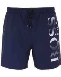 BOSS - Octopus Navy Colour Block Swim Shorts - Lyst