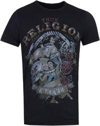 True Religion - Pinup Black Tee - Lyst