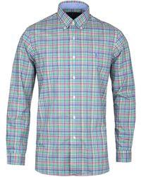 Polo Ralph Lauren - Green & Blue Madras Check Shirt - Lyst
