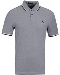 Fred Perry - M3600 Dark Airforce Marl Pique Polo Shirt - Lyst