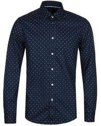 BOSS by Hugo Boss - Lukas_53 Navy Dot Shirt - Lyst