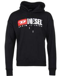 DIESEL - S-division Industry Logo Hooded Sweatshirt - Lyst