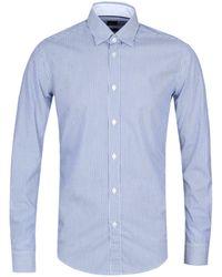 BOSS by Hugo Boss - Rog_53 Blue Stripe Shirt - Lyst