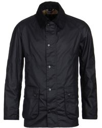 Barbour - Ashby Navy Wax Jacket - Lyst