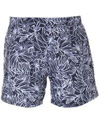 b8faf2af47 BOSS by Hugo Boss Boss Octopus Navy Colour Block Swim Shorts in Blue for  Men - Lyst