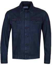 Albam - Indigo Denim Press Shirt - Lyst