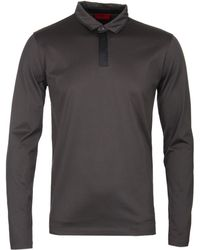 a893222d BOSS by Hugo Boss - Hugo Dalander Slim Fit Dark Green Long Sleeve Polo Shirt  -