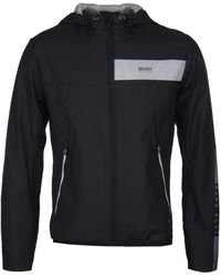BOSS Green - Boss Jeltech Black Water-repellent Jacket - Lyst
