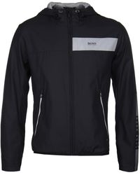 BOSS Green - Jeltech Black Water-repellent Jacket - Lyst