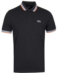 BOSS Athleisure - Paddy Grey Polo Shirt - Lyst