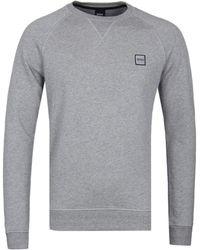 BOSS Orange - Wyan Grey Marl Sweatshirt - Lyst