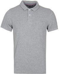 Tommy Hilfiger - Slim Fit Grey Towelling Polo Shirt - Lyst
