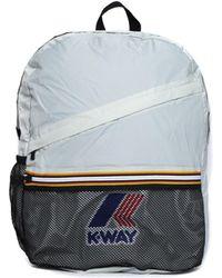 K-Way - Francois Light Grey Packable Backpack - Lyst