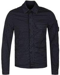 C P Company - Black Honeycomb Overshirt - Lyst