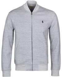 Polo Ralph Lauren - Grey Tech Fleece Bomber Sweat - Lyst