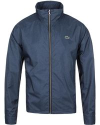 Lacoste - Philippines Blue Hound Tooth Hooded Jacket - Lyst