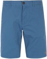 Farah - Hawk Stellar Blue Chino Shorts - Lyst
