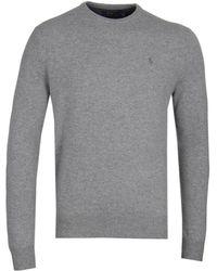 Polo Ralph Lauren - Grey Merino Wool Crew Jumper - Lyst