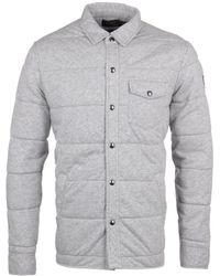 Polo Ralph Lauren - Spring Heather Grey Overshirt - Lyst