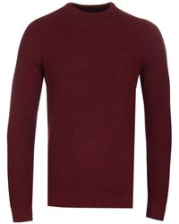 Barbour - Manor Crew Merlot Knitted Jumper - Lyst