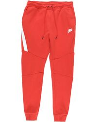 66d2a1839fef Lyst - Nike Logo Track Pants in Red for Men