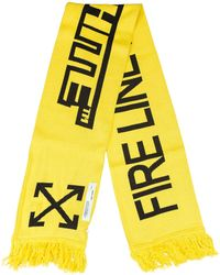 Off-White c/o Virgil Abloh | Fire Tape Scarf | Lyst