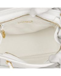 525248d3bb8c36 Chanel - White Quilted Caviar Leather Vintage Timeless Shoulder Bag - Lyst