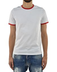 Bikkembergs - T-shirt Sea White And Red - Lyst