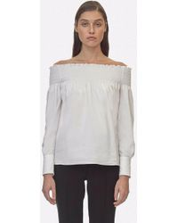 Yigal Azrouël - Off The Shoulder Smocking Top - Lyst